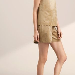 Aritzia Babaton Tommie Faux Suede Shorts
